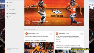 Denver Broncos Google Plus Page
