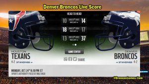 Denver Broncos Live Score 2017