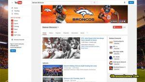 Denver Broncos You Tube Channel For Fans