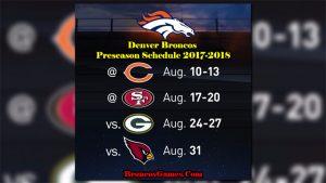 Denver Broncos Games Schedule